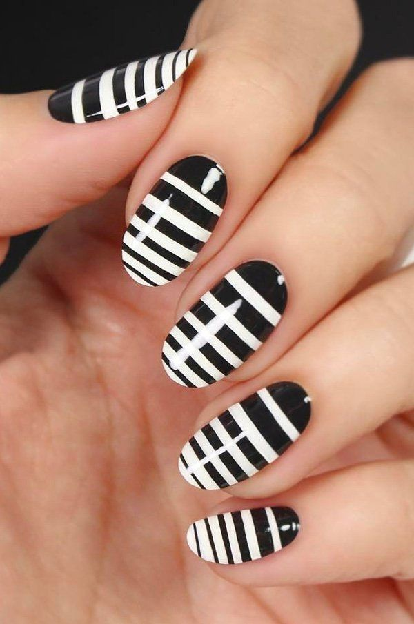 45 Chic Classy Nail Designs | Black manicure, Manicure and Modern nails