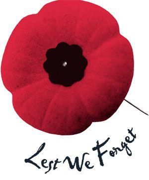 Poppy Nov 11 Remembrance Day!