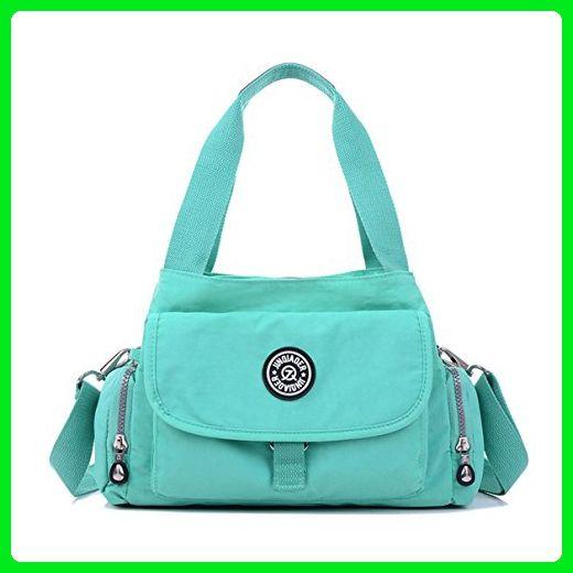 be614b7f5d35 Tiny Chou Pure Color Water Resistant Premium Nylon Tote Handbag Green Cross  Body Shoulder Bag - Crossbody bags ( Amazon Partner-Link)