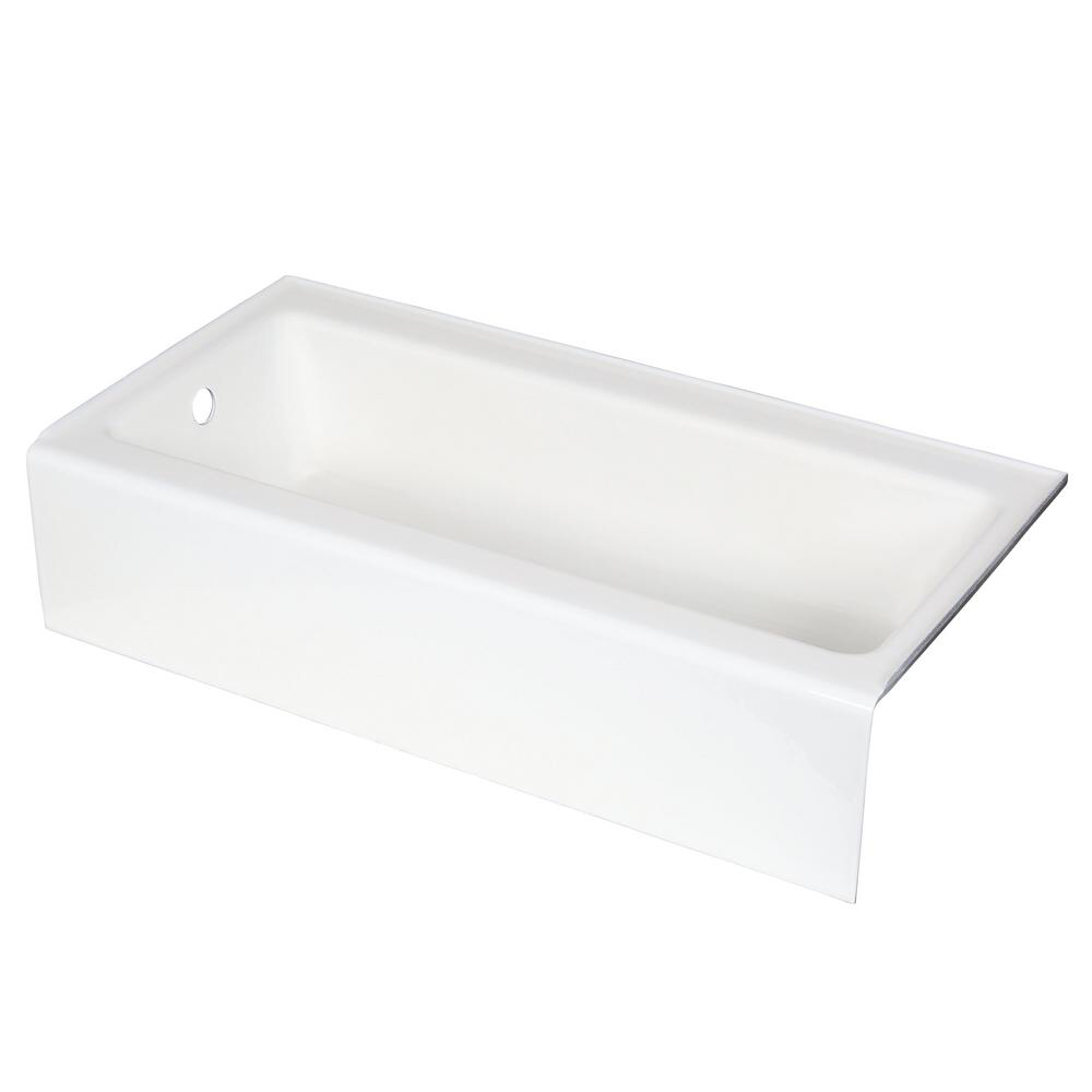 KOHLER Bellwether 60 in. x 30 in. ADA Cast Iron Alcove Bathtub with Integral Farmhouse Apron and Left-Hand Drain in White-K-837-0 - The Home Depot