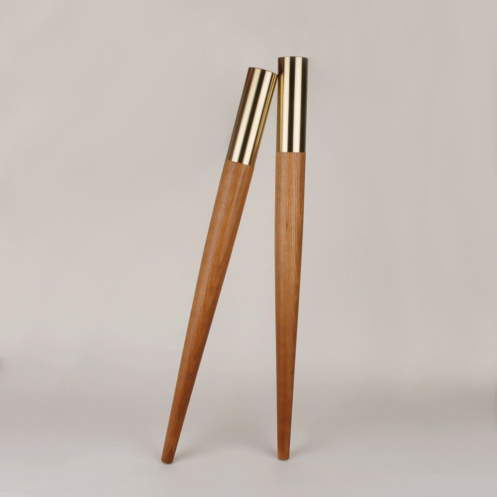 Gambe Per Mobili Ikea table leg with brass top estelle 700