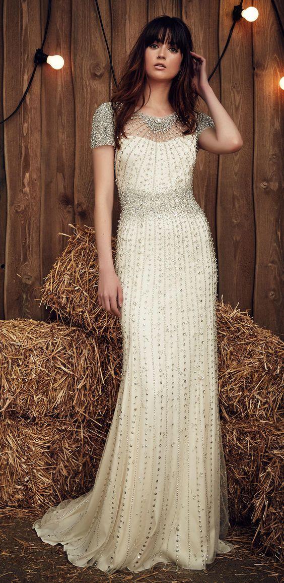 Vintage Wedding Dresses For 2017 : Vintage beaded wedding dress gypsy dresses gowns