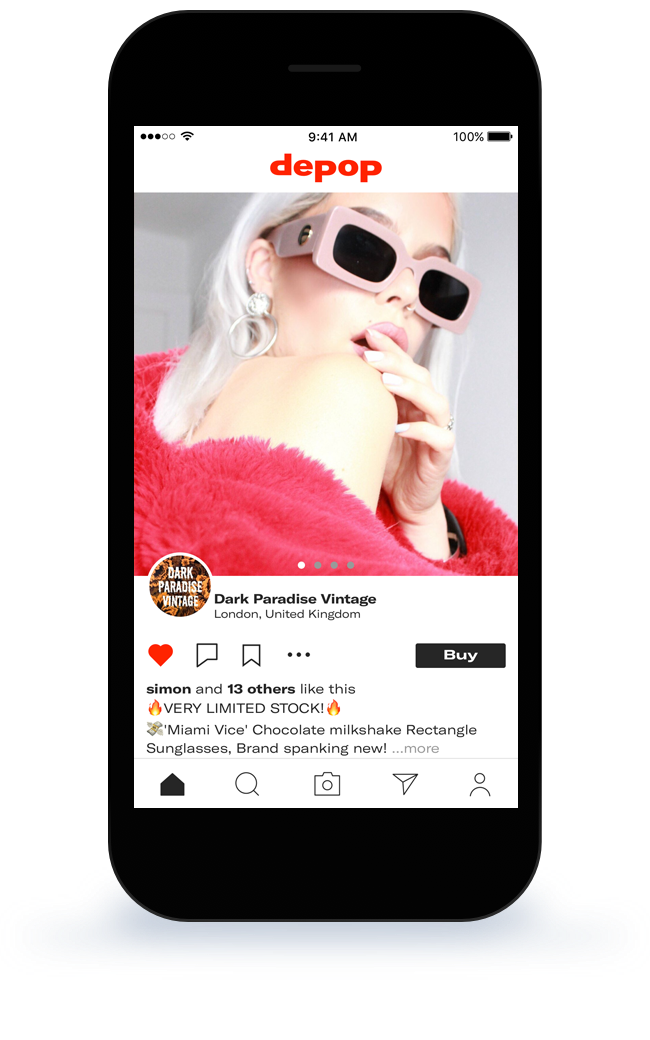 9ffd7bd6 Depop app screen Buy vintage clothes inexpensively online! | FASHION ...