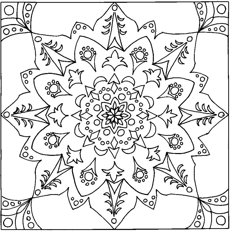 Coloring pages to print designs - Free Printable Mandala Coloring Pages Click On The Images Below And Print
