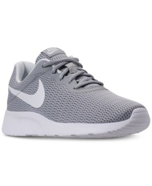 5c9d886788ed Nike Women s Tanjun Wide Width (2E) Casual Sneakers from Finish Line - Gray  5.5