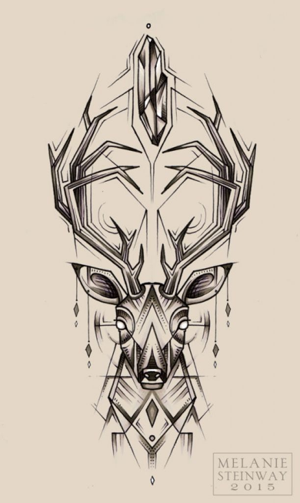 resultado de imagem para deer design quiero un tatuaje pinterest rh pinterest co uk Cool Deer Tattoos deer head tattoo pics