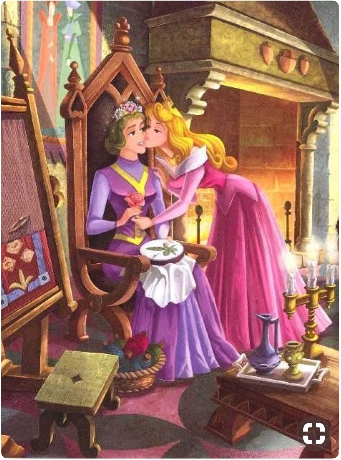 Aurora And Her Mother Queen Leah Disney Princess Pictures