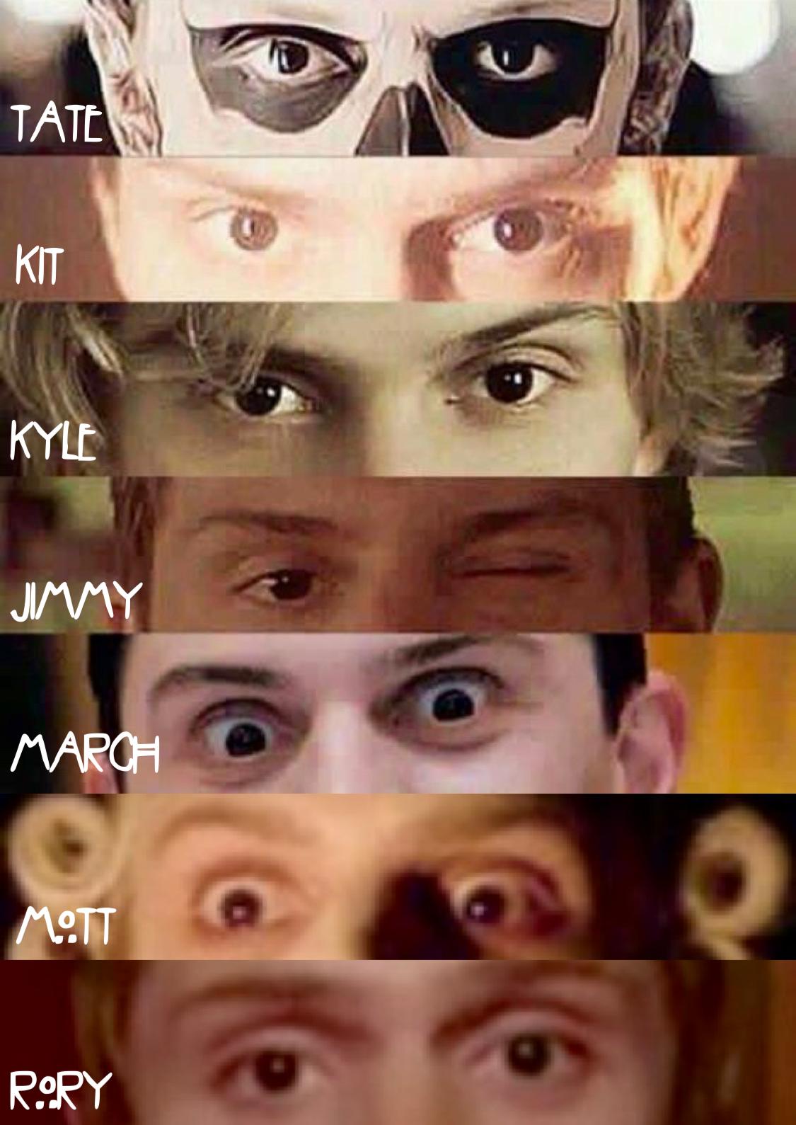 Evan's Eyes. All of Evan Peters' AHS Characters to date, updated to include Mott & Rory of AHS Roanoke. | Follow rickysturn/evan-peters & american-horror story
