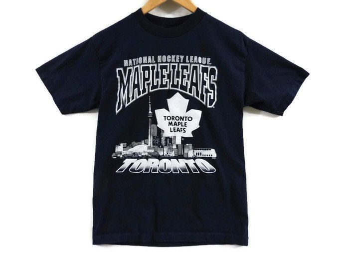 b0d2cde18 Toronto Maple Leafs T Shirt - Medium - 90s - NHL - Hockey - Vintage Tee -  Ontario Hockey - OHL - Marlies - Tdot - Canadian - Canada - by BLACKMAGIKA  on Etsy