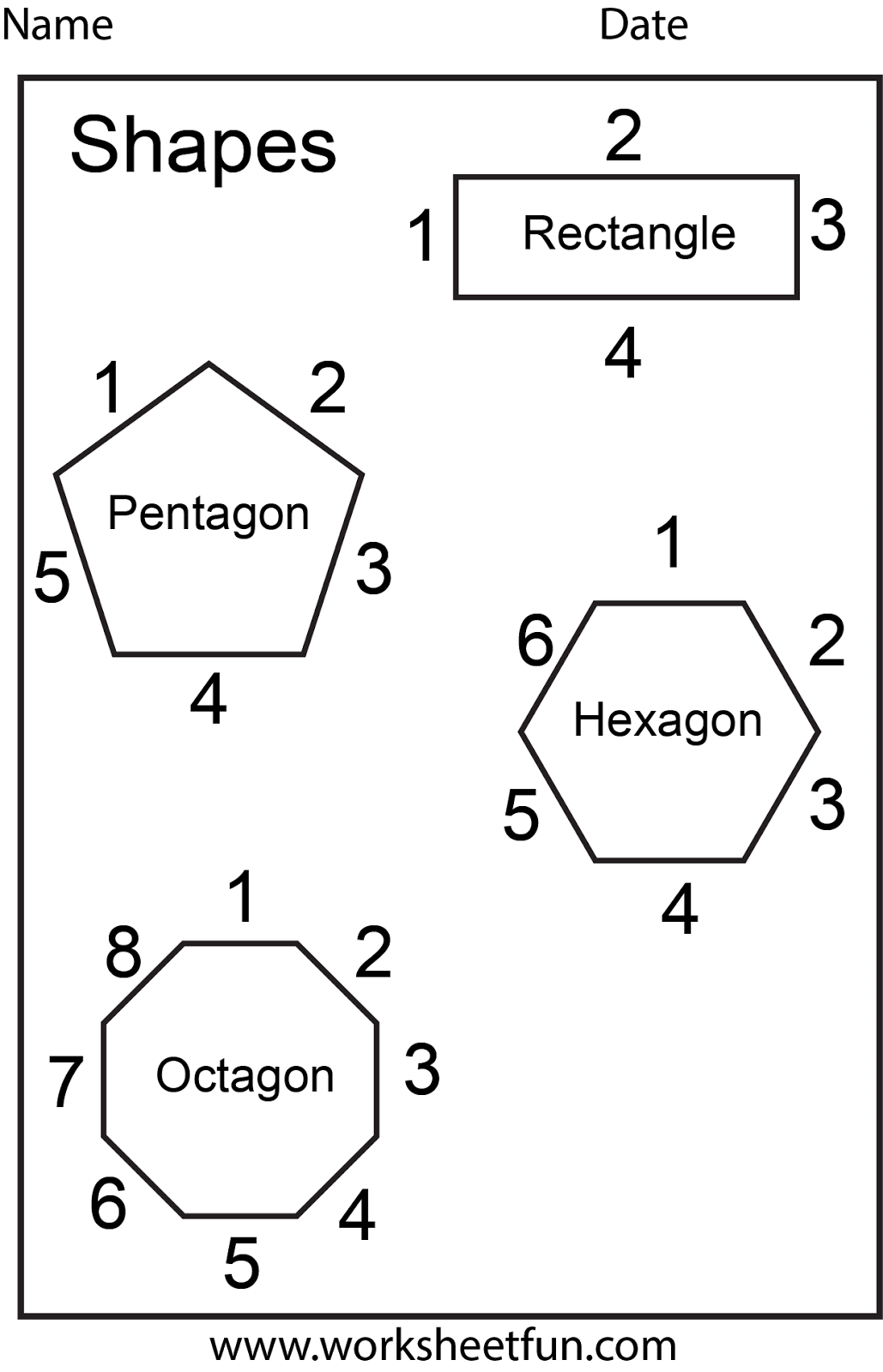 Shapes Number Of Sides