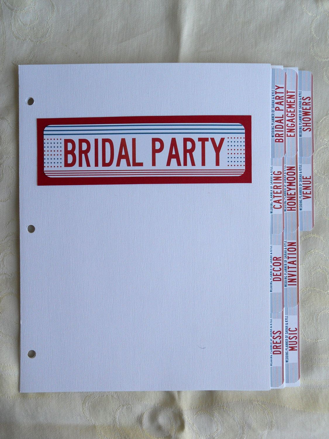 DIY Wedding Binder Tabs Huge Time Saver And Organizer Prevents A Lot Of Headaches