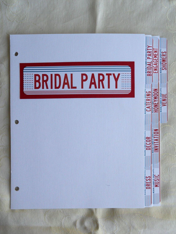 Diy Wedding Binder Tabs Huge Time Saver And Organizer