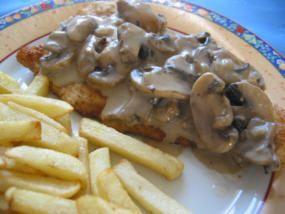Jaegar Schnitzel With A Rich Mushroom And Sour Cream Gravy Recipes Food Sour Cream Gravy Recipe