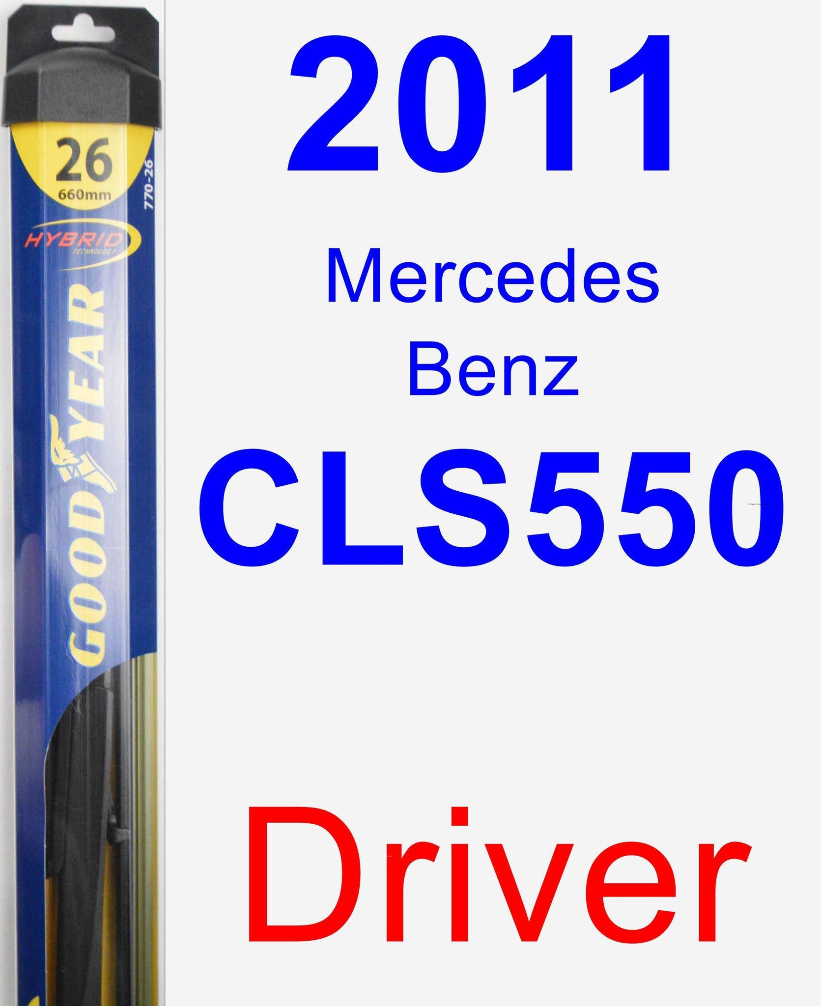 Driver Wiper Blade for 2011 Mercedes-Benz CLS550 - Hybrid