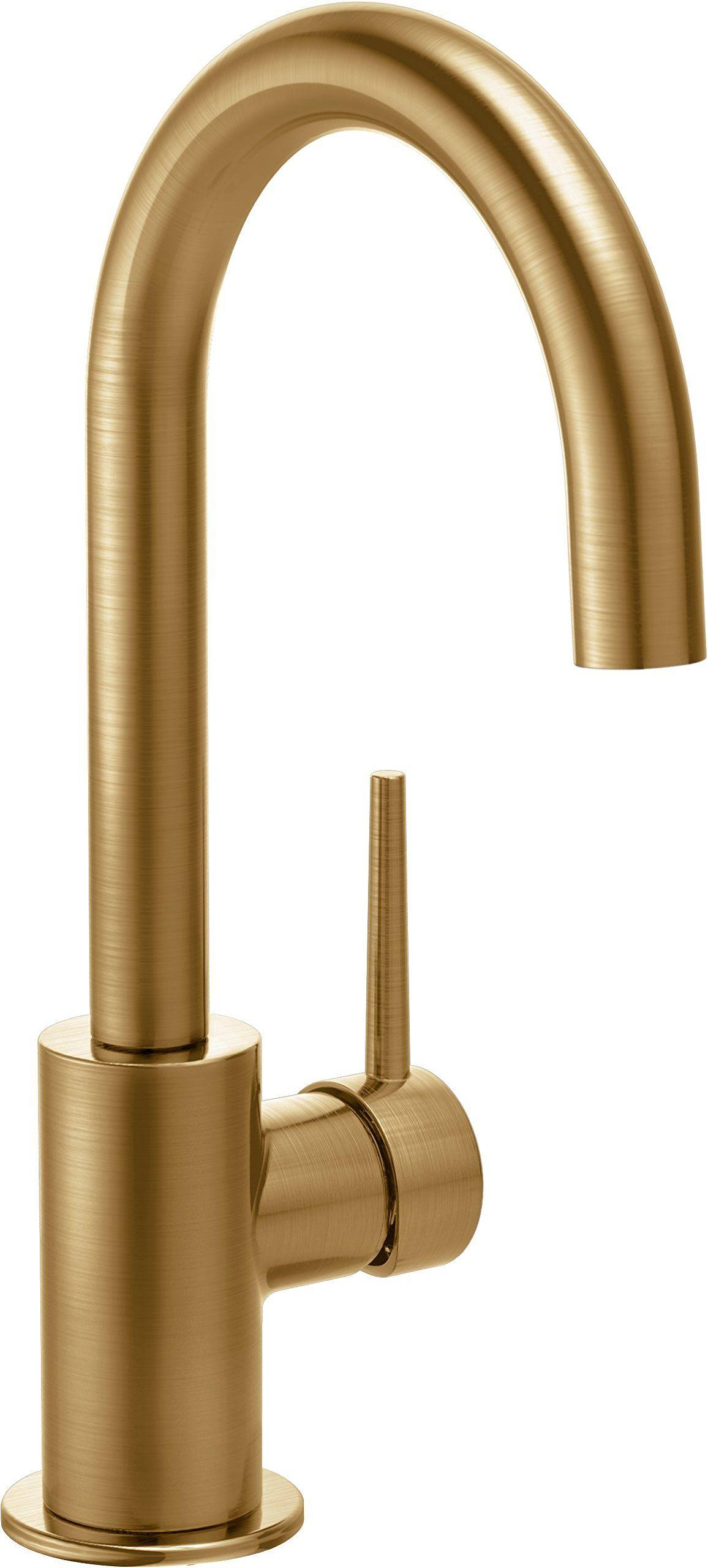 Delta Faucet 1959LF-CZ Trinsic, Single Handle Bar/Prep Faucet, Champagne Bronze