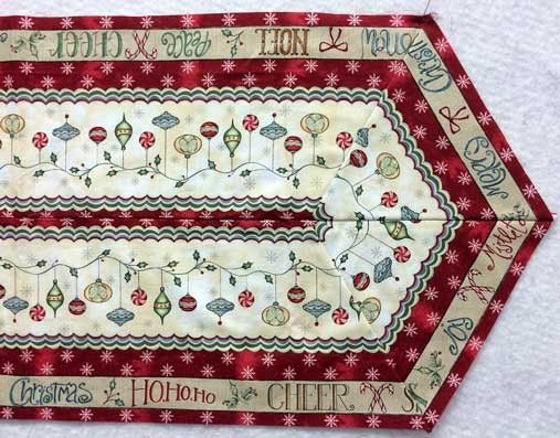 Christmas Whimsy Easy Stripe Table Runner Bundle at Creative Quilt ... : quilted table runner kits - Adamdwight.com
