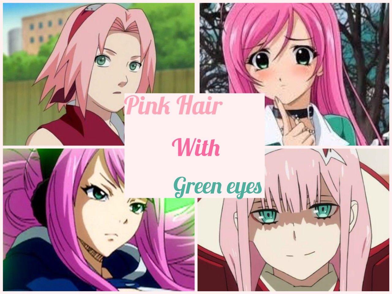 Just Because I Noticed A Lot Of Anime Girls With Pink Hair And Green Eyes From Left To Right Sakura Haruno Naruto Moka Akashiya R Mata Hijau Hijau Rambut