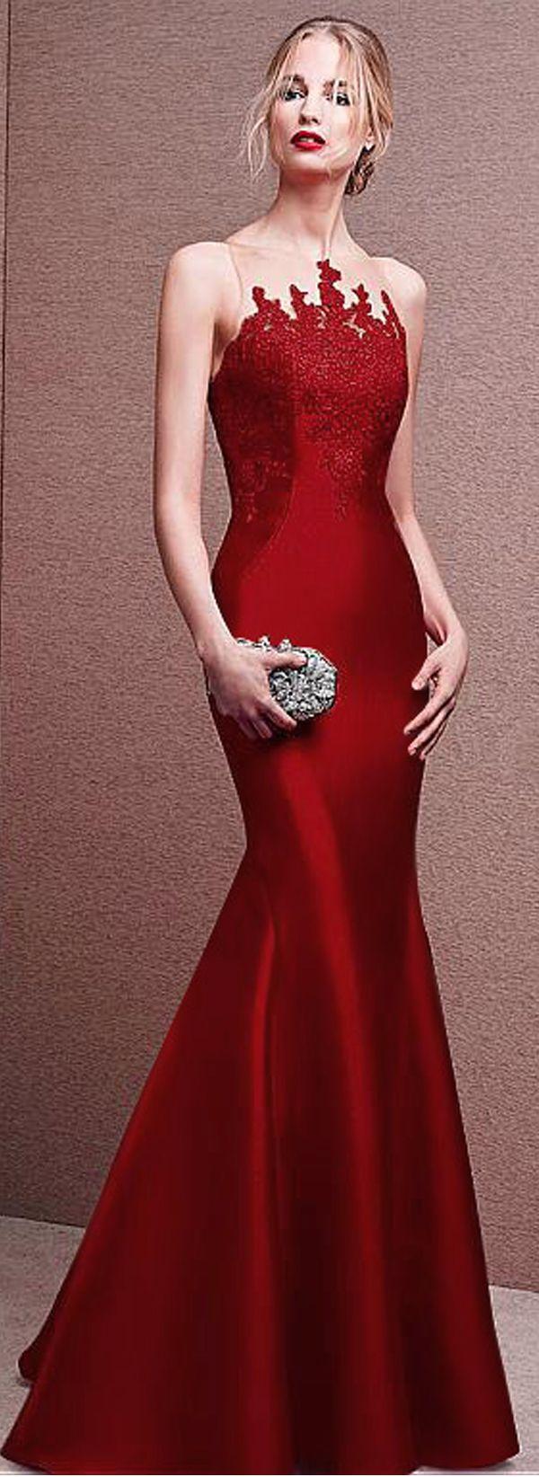 Gorgeous tulle u satin jewel neckline mermaid long evening dresses