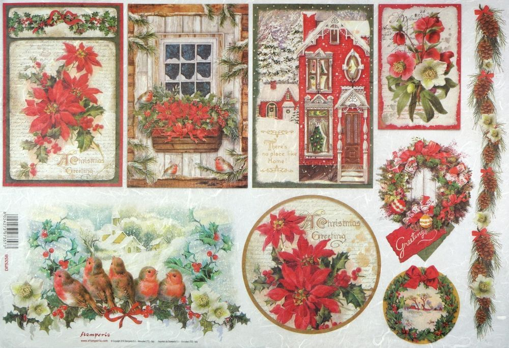 RICE DECOUPAGE PAPER CRAFT PAPER CHRISTMAS TIME DECOUPAGE SHEETS