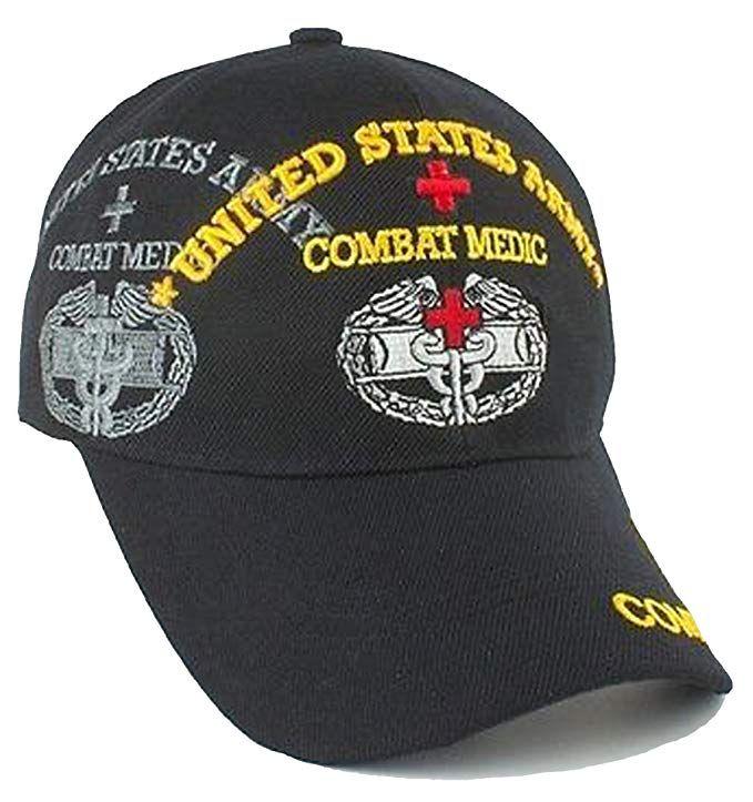 Army Combat Medic Cap and Bumper Sticker Black Hat U S  Military