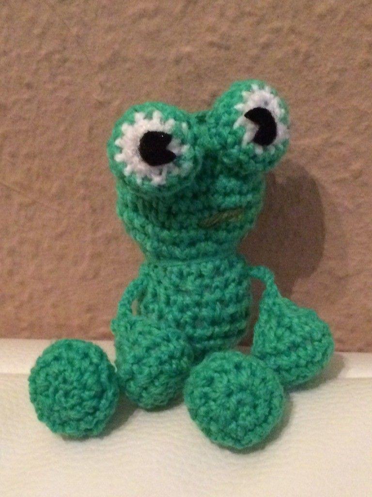 Amigurumi Häkelanleitung Kleiner Frosch Schlüsselanhänger