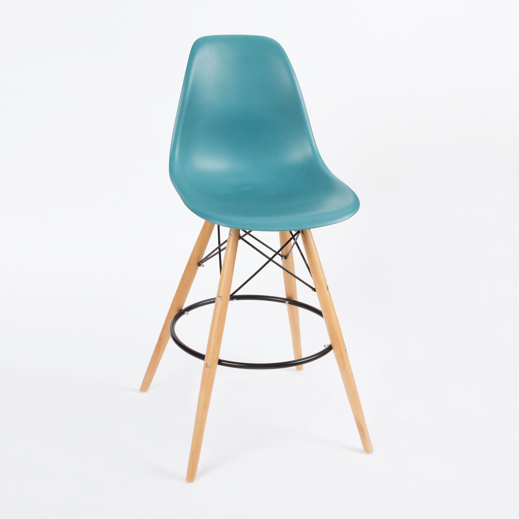 Barstool Slope Chair in Teal | dotandbo.com | Home Idea(ls ...