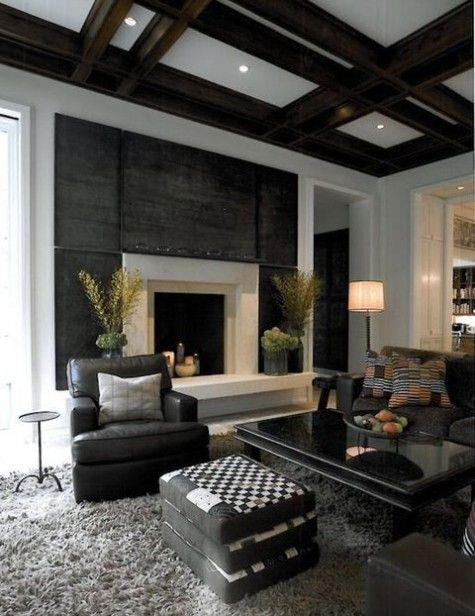 54 Masculine Living Room Design Ideas Black Living Room