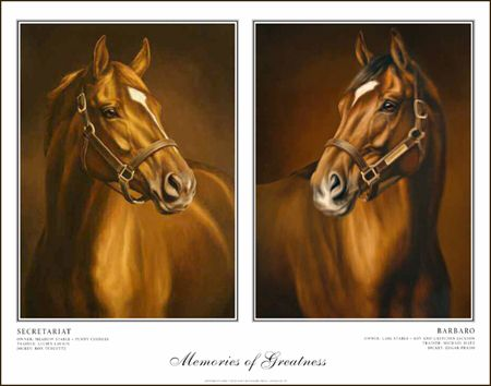 Barbaro Secretariat Art To Support Laminitis Research Horses
