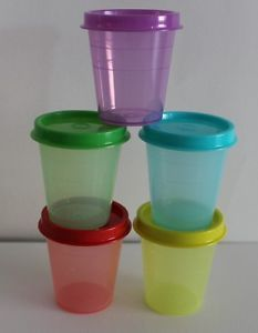 Tupperware  Midgets Minis  2 oz  Multi-Color New