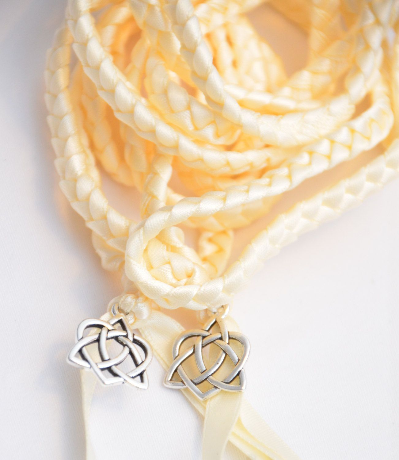 Ivory Celtic Heart Knot Wedding Hand Fasting/ Binding Cord