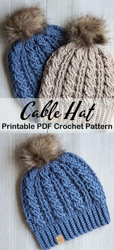 Crochet Chevron Hat - Free Crochet Pattern