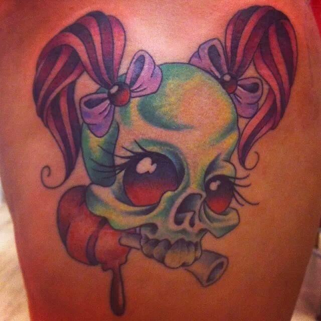 Girly Skull Tattoo Www Cashandglory Nl Amsterdam Based Tattoo And