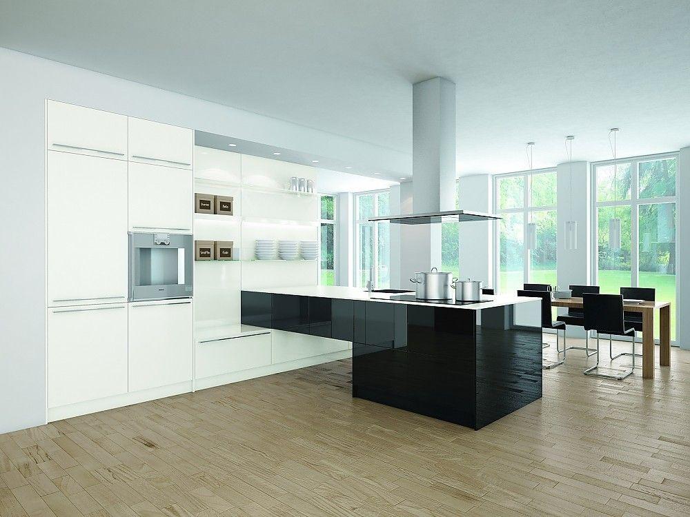 Proline schwarz-weiß Glanzlack (pronorm Küchen) | Küche | Pinterest | {Küchenzeilen weiß 32}