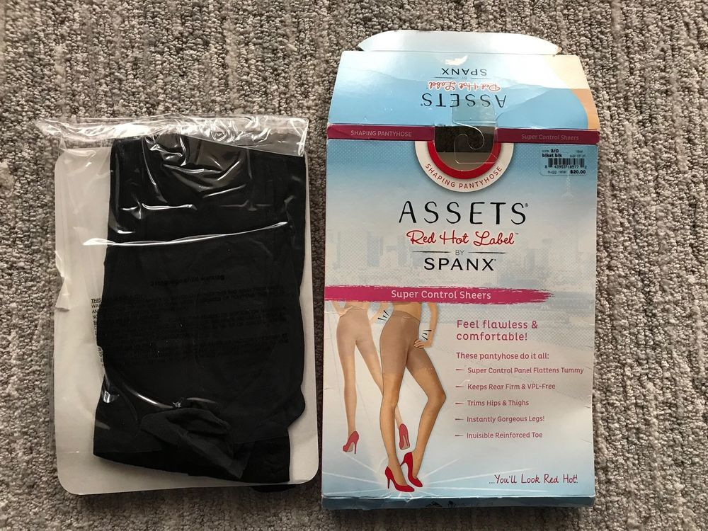 77a34cb779fcd Spanx Assets Red Hot Label Shaping Black Pantyhose High Waist Size 3C  Spanx   Pantyhose