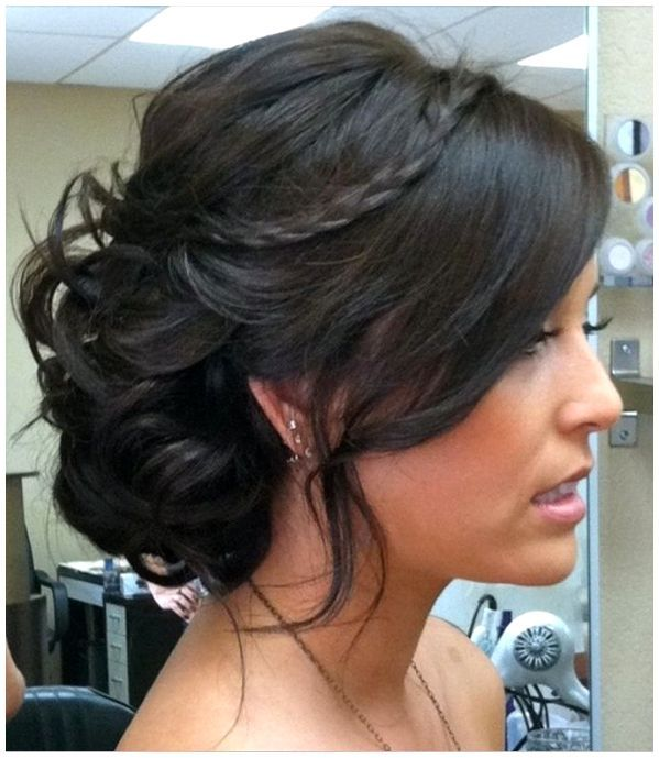 Updo Wedding Hairstyles Updos For Bridesmaids Medium Length HairBridesmaid