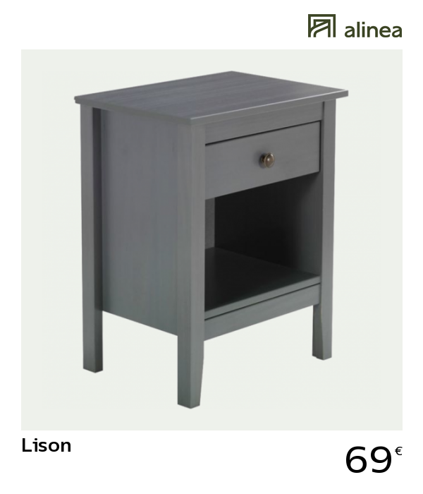 Alinea Lison Table De Chevet Grise En Pin Massif 1 Tiroir Et 1 Niche Meubles Chambre Tables De Chevet Table De Chevet Grise Table De Chevet Pin Massif