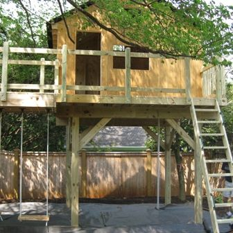 Treeless treehouse plans images for Free treehouse plans