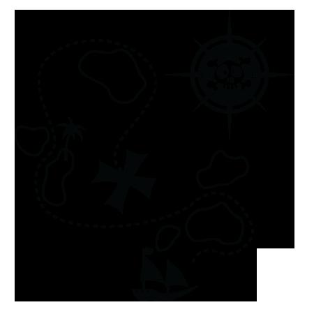 dernière sélection de 2019 découvrir les dernières tendances dégagement Stickers - KOMOA Design - Stickers ACCESSOIRES PIRATES Carte ...
