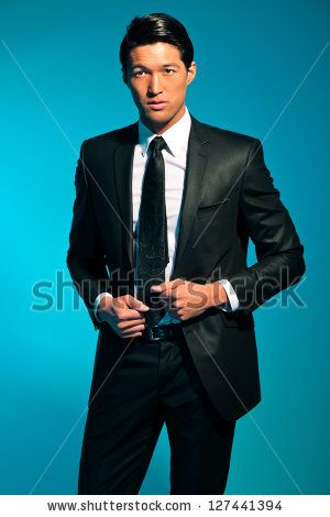 Asian man in suit photo 796