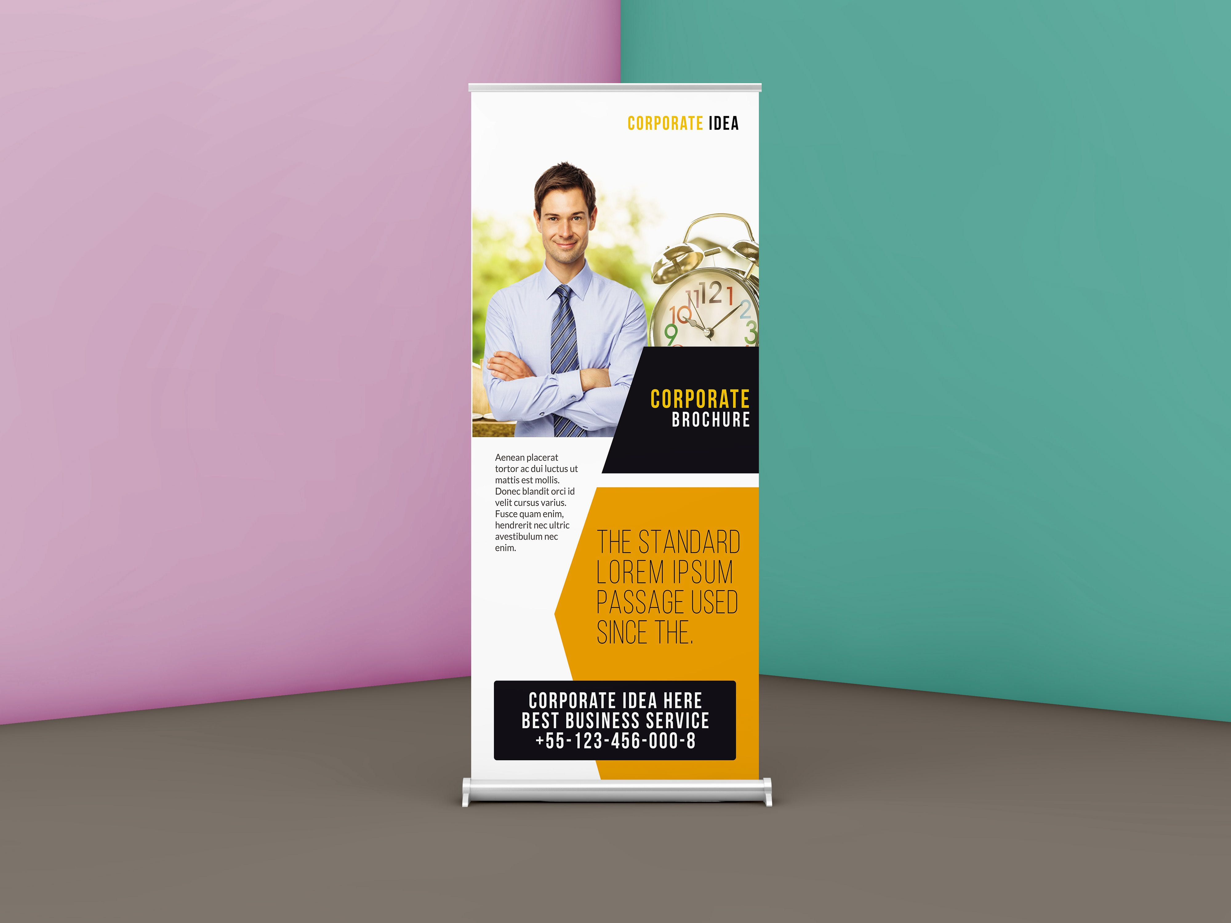 Check Out My Behance Project Free Corporate Business Roll Up Banner Psd Template