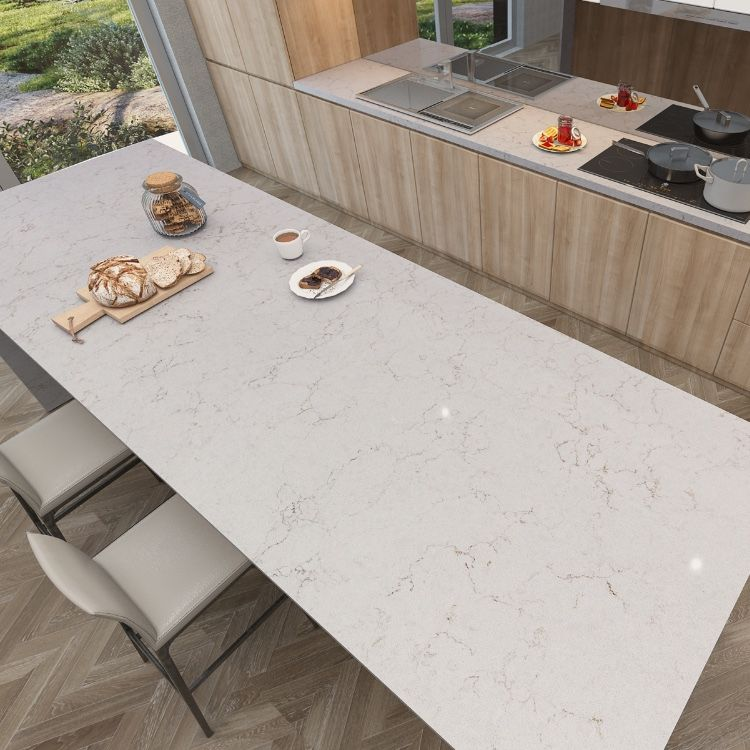 Beautiful Marquina Marble Quartz Dining Table Made For A Very
