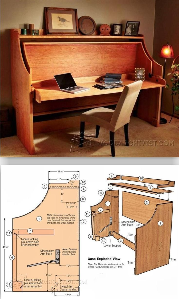 BedDesk Combo Furniture Plans and Projects