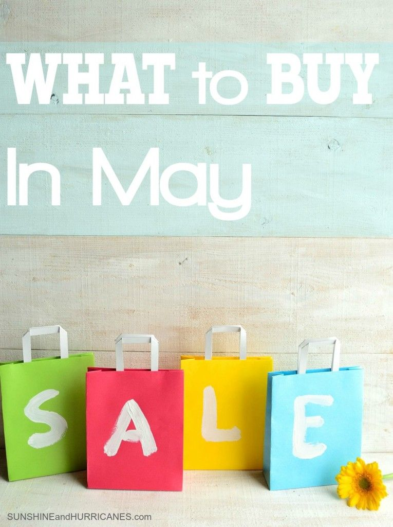 Curious about how to stretch your dollar even further this month? This list is full of great tips about how to spend wisely and make the best choices for your family budget. Shop smart, live frugal and discover what is most inexpensive and on sale in the month of May! What to Buy in May