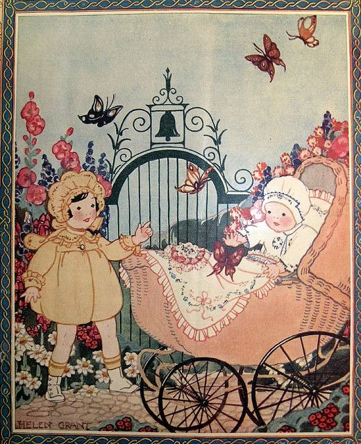 Needlecraft Magazine cover 1926 - art by Helen Grant