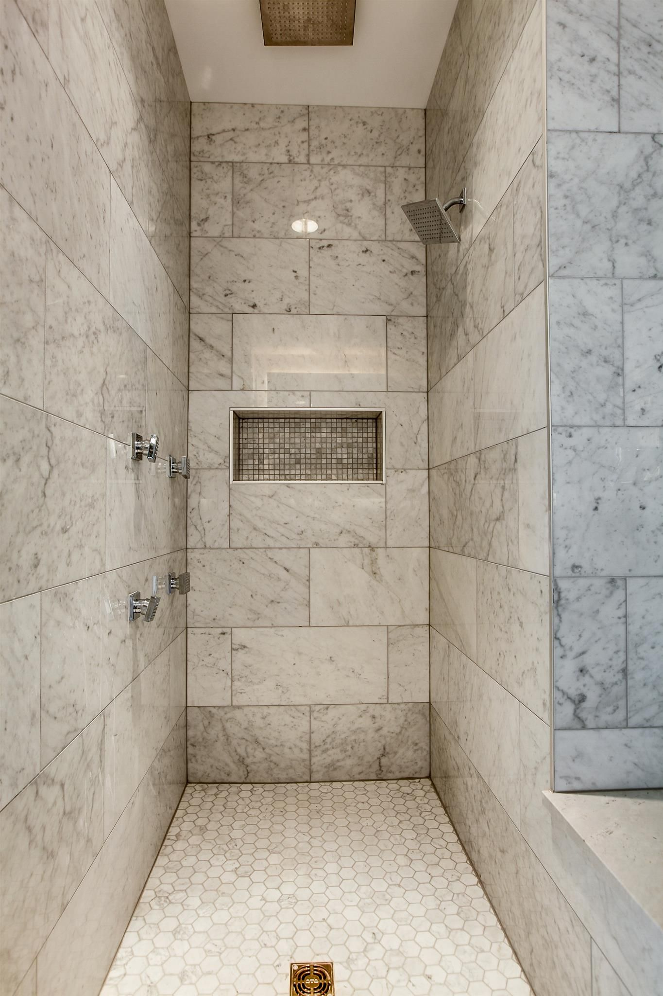 Luxury Spa Bathroom With Marble Tile Townhouse In Nashville Tn