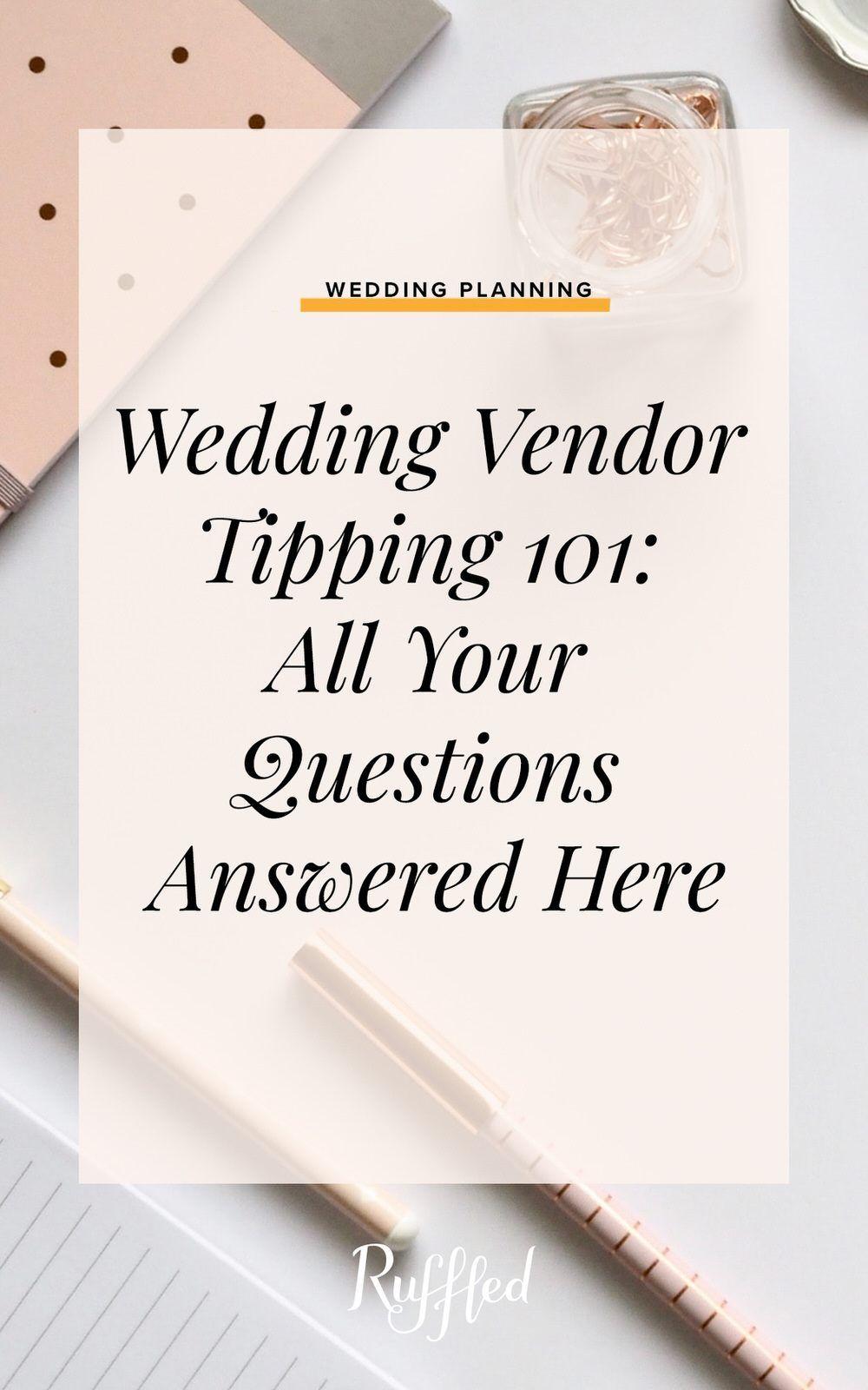 31++ Wedding vendor tip list ideas