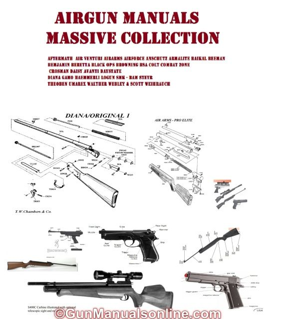 AIR RIFLE BB PISTOL AIRSOFT GUN OWNERS MANUALS - PARTS LISTS AND