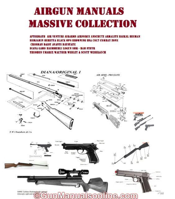 AIR RIFLE BB PISTOL AIRSOFT GUN OWNERS MANUALS - PARTS LISTS