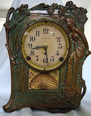 Seth Thomas Art Nouveau Clock 213 Clock Antique Clocks Vintage Clock