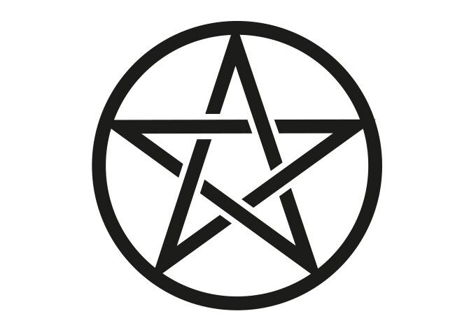 Pentagram witch symbol
